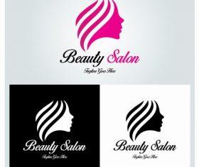 Three beauty salon logo vector