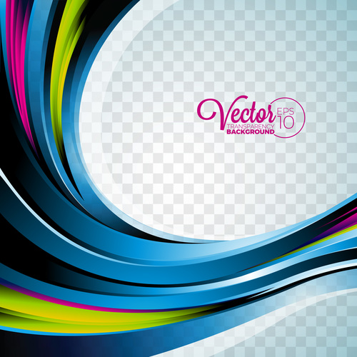 Three color lines abstract background vector