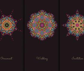 Three multilateral graphics mandala vector