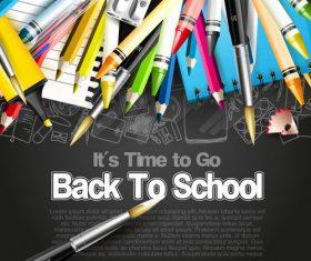 Top black back to school vector