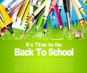 Top green back to school vector