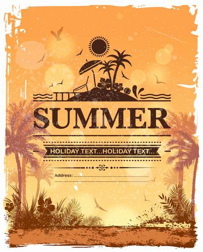 Tropical holiday vector