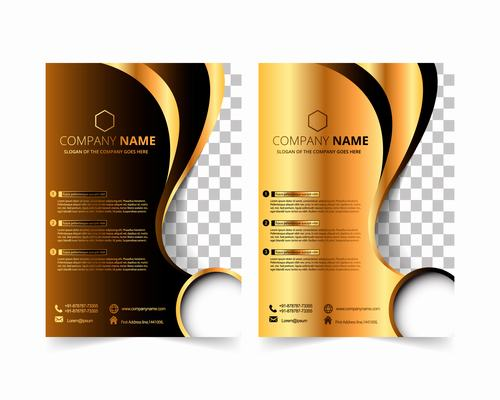 Two color cover design vector