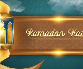 Unique ramadan greeting card vector