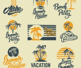 Vacation time logo vector