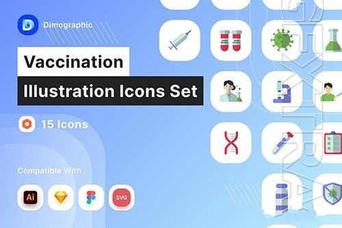 Vaccination icon pack vector