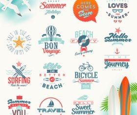 Various beach logo vector