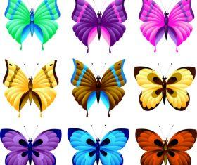 Various butterflies illustration vector