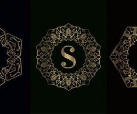 Vector S logo of mandala decorative frame