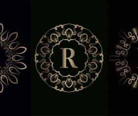 Vector logo for mandala decorative frame