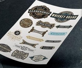 Vector of 16 logos and badges vector