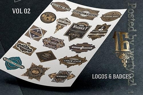 Vector of logos and badges