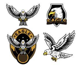 Very good looking bald eagle logo design vector