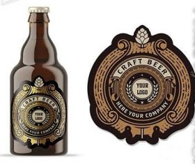 Vintage Style Beer Label Layout vector