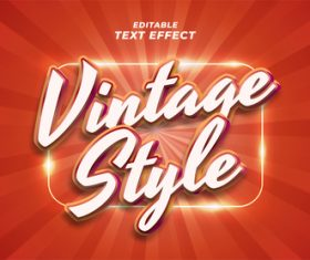 Vintage style vector text effect