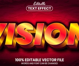 Vision text font style vector