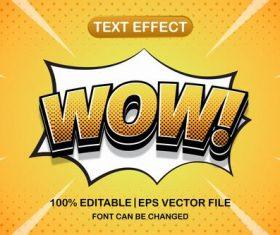 WOW text effect vector