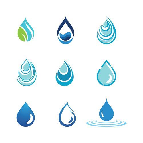 Water logo vector