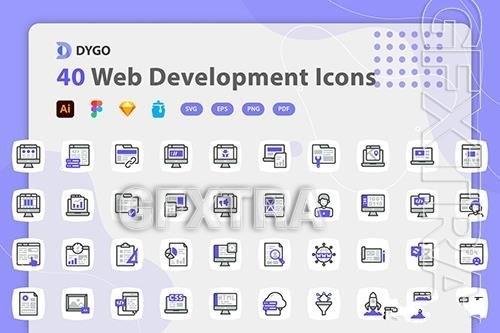 Web development icons pack vector
