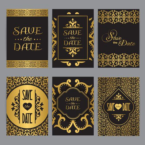 Wedding card oriental style vector
