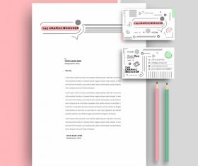 White business letterhead and business card vector