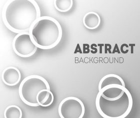 White circle background vector