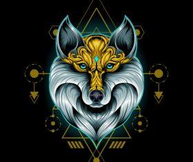 Wolf head esports logo vector