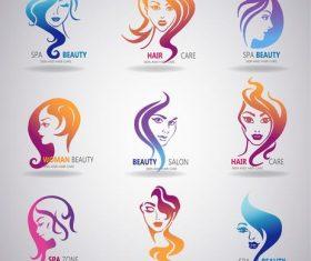 Woman beauty logo vector