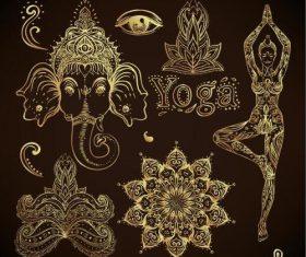 Yoga element illustration vector
