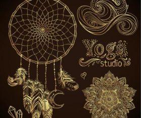Yoga studio illustration vector