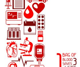1 bag of blood saves 3 lives vector