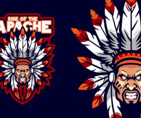 Angry chief logo vector