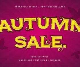 Autumn sale vector text effect