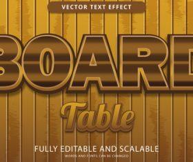 BOARD editable eps text effect vector