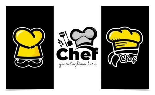 Banner chefs vector