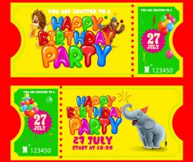Banner happy birthday party vector