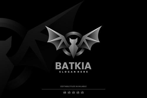 Bat gradient logo vector