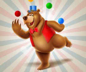 Bear circus show vector