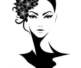 Beautiful headdress vector