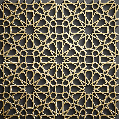 Beautiful openwork pattern decoration background vector