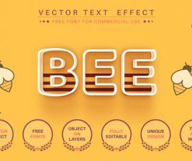 Bee vector text effect