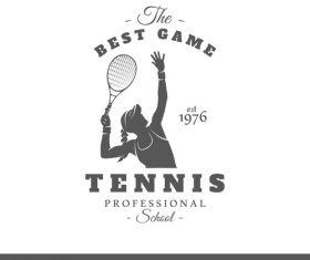 Best game tennis card vector