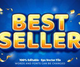 Best seller editable eps text effect vector