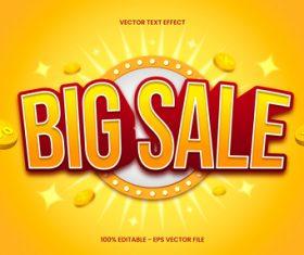 Big sale editable text style vector