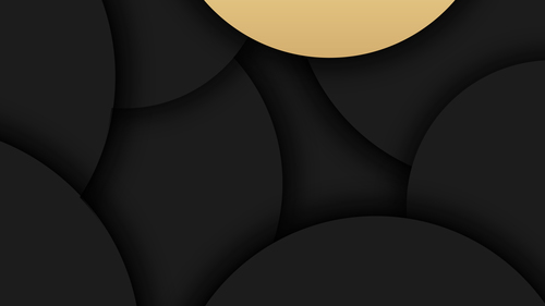 Black arc and beige arc background vector