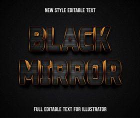 Black mirror new style editable text vector