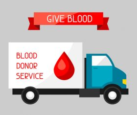 Blood donor service vector