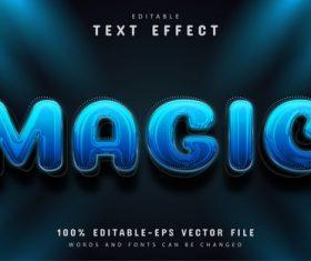 Blue magic editable eps text effect vector