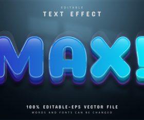 Blue max editable eps text effect vector
