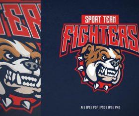 Bulldog head mascot sport and esport logo vector